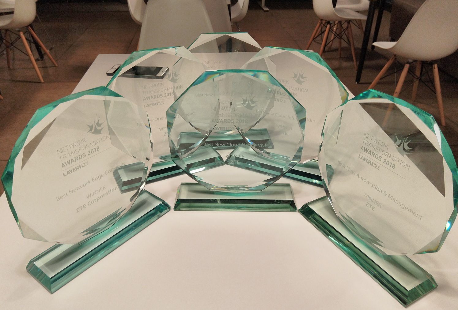 ZTE Wins 6 Awards at the SDN NFV World Congress
