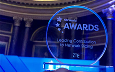 ZTE Network Slicing at 5G World Awards